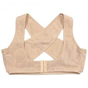 LQBDJPYS Haltungskorrektur Formbehandlung Tops Bruststütze BH Top X-BH verbessert schlechte Körperhaltung Nude Large