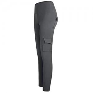 JINSUO Modische Fitness-Leggings mit Tasche Yoga-Hose dehnbar hohe Taille für Laufen Fitnessstudio Sport Damen Sport-Leggings (Farbe: Grau Größe: M)