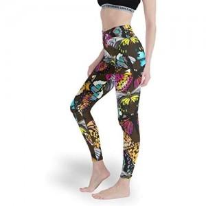 Qunrontan Butterfly Mädchen Super Comfort Leggings Papular Yoga Pants Workout Capris Strumpfhose für Yoga
