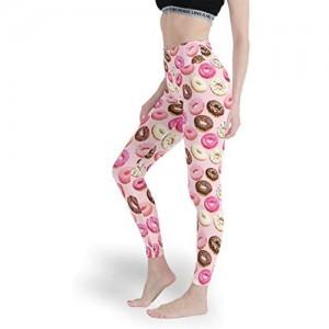Qunrontan DoughnutWomen Stoff-Leggings weiche Yogahose weiche Capri-Strumpfhose für Fitness