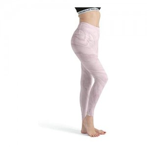 shenminqi Damen-Leggings mit Marmor-Textur nahtlos dünne Capri-Strumpfhose für Fitnessstudio