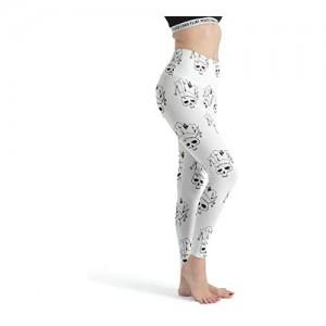 Stormruier Clown-Totenkopf-Leggings für Damen viele Farben coole Yogahose hohe Taille Capri-Strumpfhose zum Laufen