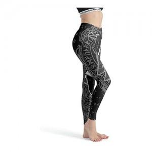 Stormruier VikingGirls Leggings mit Digitaldruck volle Länge Yogahose weiche Knöchel Capri-Strumpfhose für Workout