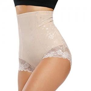 WOWENY Damen Miederslip Bauch Weg Taillenformer Shapewear Figurformende Miederhose Unterwäsche Taillenslip Formslip Easy Off Lace Slimming Slips