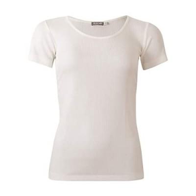 Alkena Damen T-Shirt Rippe 100% Seide