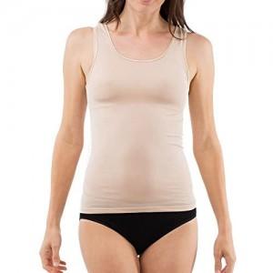SCHÖLLER Damen Unterhemd ohne Arm I 51183-41-560 I Größe 38 bis 50 I Hautfarben (Skin)
