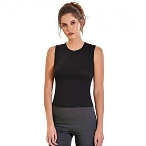 VEDATS Damen Unterhemd Vollachsel Tank Top Achselhemd Body