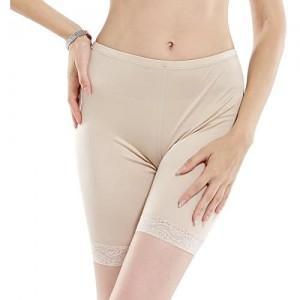 Hoffen 100% Seide Damen Unterwäsche Slip Unterhosen Sicherheits Shorts Unterwäsche Kurz Leggings Panties Softe Spitze Hipster Pantys