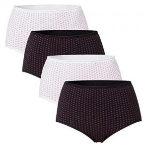 Celodoro 4 Damen Taillenslips Baumwolle - Stretch & Komfort - Soft Qualität - mit Blumenmuster
