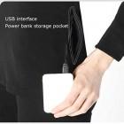 GHKJ Beheizte Unterwäsche Mit App-Steuerung Elektrisch Beheizte USB-Thermo-Unterwäsche Für Männer Und Frauen Temperaturverstellbar Anzug Für Outdoor-Aktivitäten Ma L