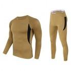 KIHUGL Thermo-Unterwäsche-Anzug für Herren im Winter warme atmungsaktive Sportunterwäsche-Anzüge aus Fleece hochelastisches Schnelltrocknungsset der Armee