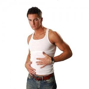 cocain 6 Herren Unterhemden Marke Achselhemd 100% Baumwolle - Weiss Feinripp glatt - Grössen 5 bis 12