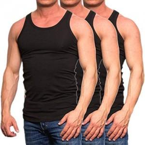 JACK & JONES Herren Tank Top 3er Pack Muskelshirt Baumwolle Unterhemd Weiß Schwarz Slim Fit