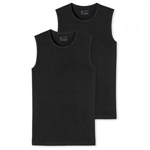 Schiesser Herren 95/5 Organic Cotton Unterhemd mit breiter Schulter (2er Pack)