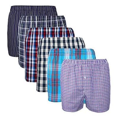 XIAOYAO Herren Boxershorts,Best Basics Boxershorts Hipster American Style Boxer Unterhosen 6er Pack