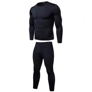 KIHUGL Elastic Warm Fleece Long Johns für Männer Thermo-Unterwäschesets für den Winter atmungsaktive Thermo-Unterwäscheanzüge Basisschicht warm