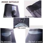 Ouruikia Herren Thermounterwäsche Pants Modal Thermohose Lange Unterhose Unterhose Unterwäsche mit separatem Beutel