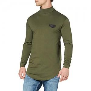 Gianni Kavanagh Herren Army Green Core Turtleneck Long Sleeve Tee Unterhemd