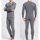 QIROG Herren Thermal Unterwäsche schweißabsorbierende atmungsaktive warme Kleidung was ist wenn das Wetter Zehenkälte ist? Kaltwetterunterwäsche Set warm