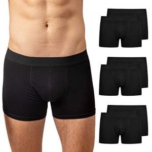 Snocks Boxershorts Herren (6er Pack) Unterhosen Männer (S - 4XL) - aus Bio Baumwolle