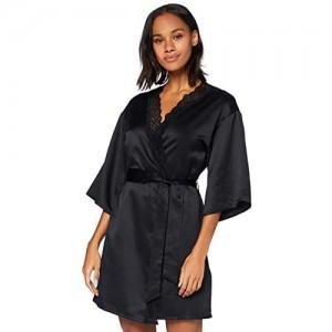 -Marke: Iris & Lilly Damen Kimono-Morgenmantel aus Satin