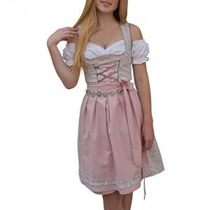 manadlian Oktoberfest Damen Blumendruck Kleid Und SchüRze Bluse Süß Cosplay Prom Performance KostüM