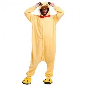 Einteiliger Schlafanzug mit Tiermuster für Männer und Frauen