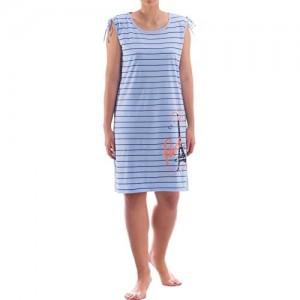 Zeitlos - Nachthemd Damen Trägershirt Shirt Paris Kurzarm