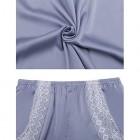 Aiboria Nachtwäsche Damen Schlafanzug Sommer Kurz Pyjama Shorty Spitzen Nachthemd Satin Negligee Set Mit Verstellbaren Trägern