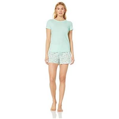 Essentials Popeline-Schlafanzug für Damen Ober- und Unterteil