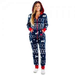 Tipsy Elves Fair Isle Blauer Weihnachts-Overall