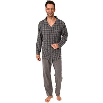 NORMANN WÄSCHEFABRIK Herren Pyjama Langarm zum durchknöpfen - auch in Übergrössen bis Gr. 70-291 101 90 483