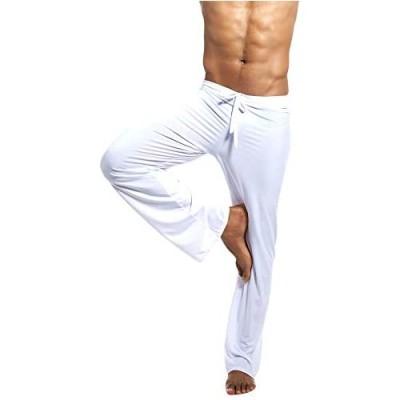 Amphia Herren Schlafanzughose Hose Lang Super weiche Pyjama Hosen Yoga Hosen Casual Hosen Nachtwäsche Pyjamahose verstellbarem Elastik-Bund Schlafen Freizeit