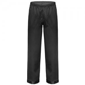 dPois Herren Satin Pyjama Hose Pants Schlafanzughose Einfarbige Nachtwäsche Sleepwear mit Gummiband Männer Loungewear Hausanzug