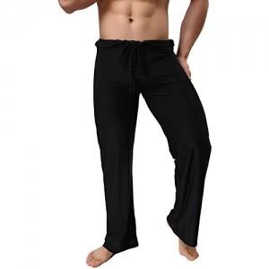 Mendove Yogahose Schlafanzughose Herren Lang
