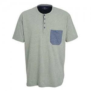 Götzburg Herren Shirt Kurzarm Baumwolle Single Jersey grün Melange