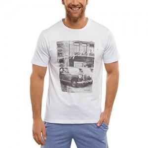 Schiesser Herren Schlafanzugoberteil Shirt kurzarm