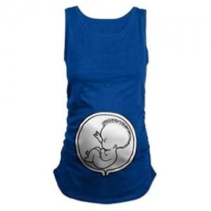 Damen Umstands Still T Vintage Shirt Fashion Elegante Aufdruck Umstandstop Frauen Schwangerschafts T Shirt Ärmellos Baumwolle Lose Weiche Schwangere Weste Mit Baby Muster