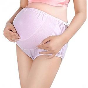 Ouzhoub Atmungsaktive Damenunterwäsche Damen-Unterwäsche Einstellbarer High Waist Magen Aufzug Große Schwangere Frauen-Unterwäsche (Size : L)