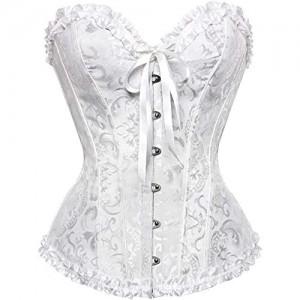 Damen Corsage übergröße Klassische Brokat Schnürung Korsett Korsage Shapewear Outfit Bustiers Korsetts