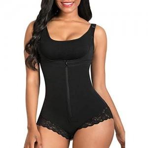 SomeTeam Damen figurformend Unterbrust Korsett Spitze Taillenformer stark formend Bauchweg Körperformer Mieder Verstellbar Oberteil Shapewear
