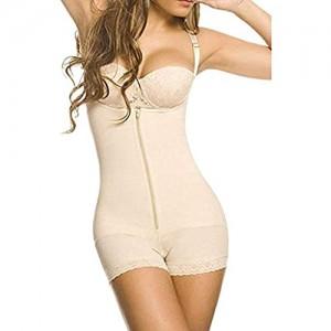 ZAYZ Shapewear für Frauen Bauchkontrolle Ganzkörperformer Butt Lifter Oberschenkel Schlankere Bodys Sexier Unsichtbar Aussehen (Color : Skin Size : Large)
